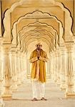 Man standing in a fort, Amber Fort, Jaipur, Rajasthan, India Stock Photo - Premium Rights-Managed, Artist: Photosindia, Code: 857-03192668