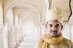 Portrait of a man, Amber Fort, Jaipur, Rajasthan, India Stock Photo - Premium Rights-Managed, Artist: Photosindia, Code: 857-03192669