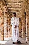 Man standing in a temple, Krishna Temple, Hampi, Karnataka, India Stock Photo - Premium Rights-Managed, Artist: Photosindia, Code: 857-03192756