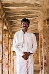 Man standing in a temple, Krishna Temple, Hampi, Karnataka, India Stock Photo - Premium Rights-Managed, Artist: Photosindia, Code: 857-03192757