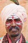 Portrait of a sadhu, Hampi, Karnataka, India Stock Photo - Premium Rights-Managed, Artist: Photosindia, Code: 857-03192805