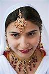 Woman wearing jewelry and smiling, Amritsar, Punjab, India Stock Photo - Premium Rights-Managed, Artist: Photosindia, Code: 857-03192906