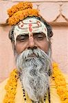 Portrait of a sadhu, Varanasi, Uttar Pradesh, India Stock Photo - Premium Rights-Managed, Artist: Photosindia, Code: 857-03193002