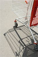 empty shopping cart - Shopping cart outdoors Stock Photo - Premium Royalty-Freenull, Code: 632-03193733