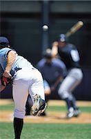 professional baseball game - Baseball Stock Photo - Premium Rights-Managednull, Code: 858-03194451