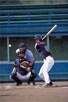 professional baseball game - Baseball Stock Photo - Premium Rights-Managednull, Code: 858-03194458