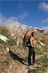 Man Backpacking Horton Lake Trail with Mount Tom in Background, Inyo National Forest, California, USA Stock Photo - Premium Rights-Managed, Artist: Lalove Benedict, Code: 700-03194990