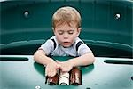 Boy Playing with Rollers Stock Photo - Premium Royalty-Free, Artist: Mark Peter Drolet, Code: 600-03195021