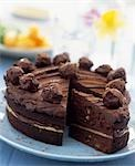 Chocolate spongecake Stock Photo - Premium Rights-Managed, Artist: foodanddrinkphotos, Code: 824-03197801