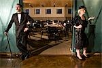 1920s style lady and gentleman at restaurant Stock Photo - Premium Rights-Managed, Artist: Kablonk! RM, Code: 842-03199078
