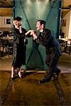 1920s style lady and gentleman at restaurant Stock Photo - Premium Rights-Managed, Artist: Kablonk! RM, Code: 842-03199081