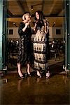 1920s style ladies at restaurant Stock Photo - Premium Rights-Managed, Artist: Kablonk! RM, Code: 842-03199083