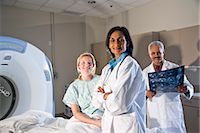 Radiologists and patient with results of CAT scan Stock Photo - Premium Rights-Managednull, Code: 842-03199830