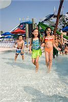 Girls at water park in summer Stock Photo - Premium Rights-Managednull, Code: 842-03200226