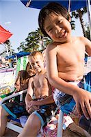 Multi-ethnic boys at water park in summer Stock Photo - Premium Rights-Managednull, Code: 842-03200259