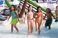 Multi-ethnic children at water park in summer Stock Photo - Premium Rights-Managednull, Code: 842-03200304