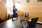 Hispanic businesswoman standing in boardroom Stock Photo - Premium Rights-Managed, Artist: Kablonk! RM, Code: 842-03200448