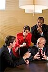 Multi-ethnic businesspeople in boardroom meeting Stock Photo - Premium Rights-Managed, Artist: Kablonk! RM, Code: 842-03200505