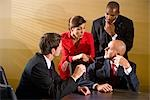 Multi-ethnic businesspeople in boardroom meeting Stock Photo - Premium Rights-Managed, Artist: Kablonk! RM, Code: 842-03200506
