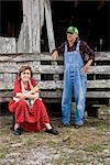 Senior couple on farm near barn Stock Photo - Premium Rights-Managed, Artist: Kablonk! RM, Code: 842-03200535