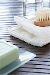 Soap and Scrub Brush Stock Photo - Premium Royalty-Free, Artist: photo division, Code: 600-03210371