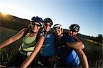 Group of Mountain Bikers, Near Steamboat Springs, Routt County, Colorado, USA