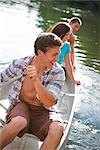 Teenagers Canoeing on Lake Near Portland, Oregon, USA Stock Photo - Premium Royalty-Free, Artist: Ty Milford, Code: 600-03210548