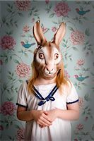 Little Girl Wearing a Bunny Mask Stock Photo - Premium Rights-Managednull, Code: 700-03210683