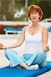 Woman Doing Yoga Stock Photo - Premium Royalty-Free, Artist: Marc Vaughn, Code: 600-03227500