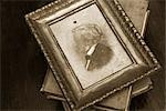 Still Life of Antique Framed Painting and Old Books Stock Photo - Premium Rights-Managed, Artist: Amy Whitt, Code: 700-03227544
