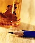 pencil and a sharpener, close-up Stock Photo - Premium Rights-Managed, Artist: F1Online, Code: 853-03227633