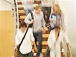 College students moving on staircase Stock Photo - Premium Royalty-Free, Artist: Masterfile, Code: 635-03228702