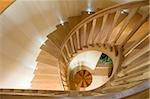 Spiraling wooden staircase Stock Photo - Premium Royalty-Free, Artist: Alberto Biscaro, Code: 635-03229184