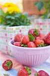Bowl of Strawberries Stock Photo - Premium Rights-Managed, Artist: Klick, Code: 700-03229378