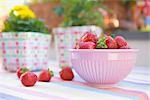 Bowl of Strawberries Stock Photo - Premium Rights-Managed, Artist: Klick, Code: 700-03229379