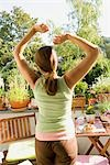 Woman Stretching Outdoors Stock Photo - Premium Rights-Managed, Artist: Klick, Code: 700-03229396
