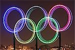 Olympic Rings at Night, Coal Harbour, Vancouver, BC, Canada Stock Photo - Premium Rights-Managed, Artist: Ron Fehling, Code: 700-03229402