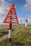 Navigation Marker and Lighthouse, List, Sylt, North Frisian Islands, Nordfriesland, Schleswig-Holstein, Germany Stock Photo - Premium Rights-Managed, Artist: Raimund Linke, Code: 700-03229793