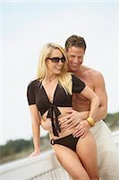 Couple on Dock, Mount Dora, Lake County, Greater Orlando, Florida, USA Stock Photo - Premium Royalty-Freenull, Code: 600-03230120