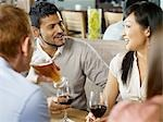 Friends Having Drinks at a Wine Bar, Toronto, Ontario, Canada Stock Photo - Premium Royalty-Free, Artist: Matthew Plexman, Code: 600-03230232