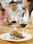 Plate of Lamb Shank at Wine Bar, Toronto, Ontario, Canada Stock Photo - Premium Royalty-Free, Artist: Matthew Plexman, Code: 600-03230255
