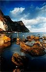Rocks in the sea, County Antrim, Northern Ireland Stock Photo - Premium Rights-Managed, Artist: IIC, Code: 832-03232255