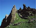 Great Skellig, Skellig Islands, County Kerry, Ireland; Craggy island summit and site of a Celtic monastery Stock Photo - Premium Rights-Managed, Artist: IIC, Code: 832-03232441