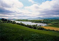 Ireland;  Field and lake Stock Photo - Premium Rights-Managednull, Code: 832-03233130