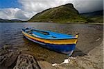 Upper Lake, Killarney National Park, County Kerry, Ireland, Boat on shore Stock Photo - Premium Rights-Managed, Artist: IIC, Code: 832-03233206