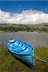 Upper Lake, Killarney National Park, County Kerry, Ireland; Boat on shore Stock Photo - Premium Rights-Managed, Artist: IIC, Code: 832-03233209