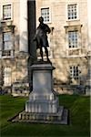 Trinity College, Dublin City, Ireland; Statue of author Oliver Goldsmith