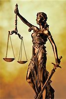 right - Statue of Lady Justice Holding Scales of Justice Stock Photo - Premium Rights-Managednull, Code: 700-03240508