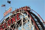 Cyclone Rollercoaster, Coney Island, Brooklyn, New York City, New York, USA Stock Photo - Premium Rights-Managed, Artist: Rudy Sulgan, Code: 700-03240509