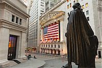stock exchange building - New York Stock Exchange and Statue of George Washington, Manhattan, New York City, New York, USA Stock Photo - Premium Rights-Managednull, Code: 700-03240554